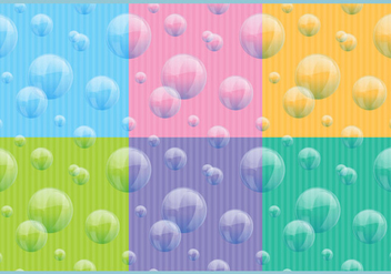 Soap Bubbles Patterns - vector gratuit #365145