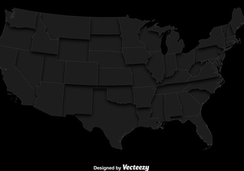 Vector Gray Map Of The USA - vector gratuit #365265