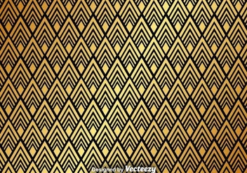 Golden Abstract Pattern Vector Background - Free vector #365295
