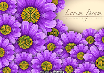 Vector Purple Flowers Background - vector #365355 gratis
