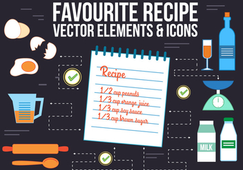 Free Recipe Vector Icons - vector gratuit #365365