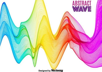 Abstract Colorful Vector Wave - Free vector #365405