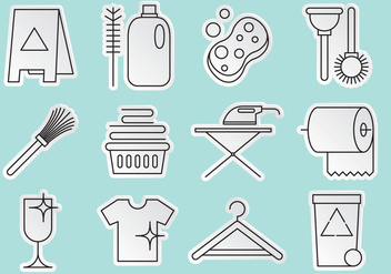 Cleaning Icon Vectors - vector gratuit #365425