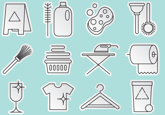 Cleaning Icon Vectors - бесплатный vector #365425