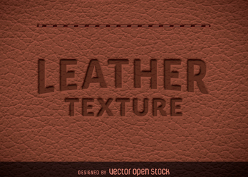 Natural leather texture - vector gratuit #365445