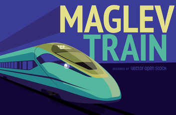 Maglev Train illustration - бесплатный vector #365475