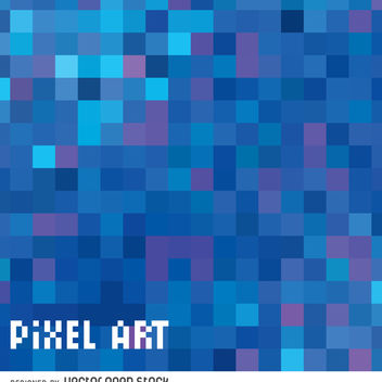 Abstract blue pixel background - Free vector #365515
