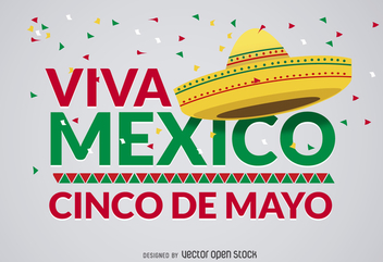 Cinco de Mayo Viva Mexico design - Free vector #365575