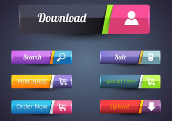 Free Web Button Bar Vectors - Free vector #365645