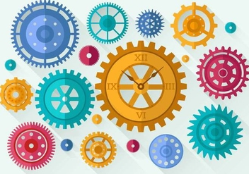 Free Clock Parts Vector - vector #365655 gratis