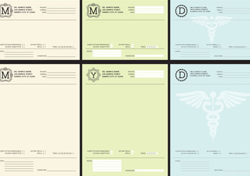 Medical Prescriptions - vector gratuit #365735