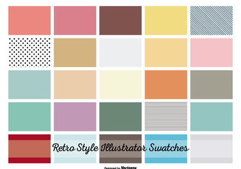 Vintage retro Illustrator Swatches - бесплатный vector #365795