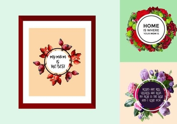 Free Mother's Day Posters - vector gratuit #366035
