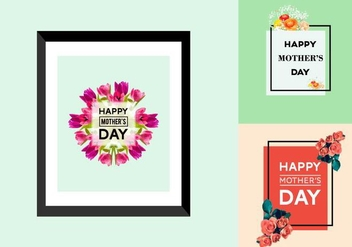 Free Mother's Day Posters - vector gratuit #366055