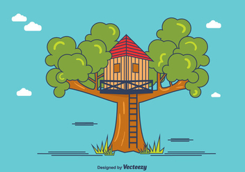 Treehouse Vector - бесплатный vector #366075