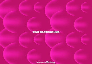 Pink Bubbles Background - vector #366135 gratis