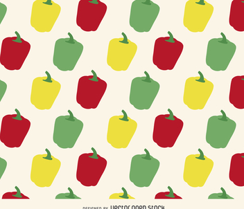 Bell pepper pattern - vector gratuit #366175