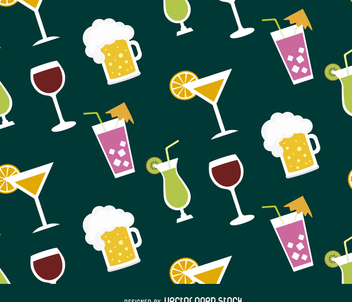 Cocktails seamless pattern - Free vector #366235