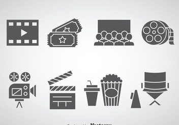 Cinema Element Icons - vector #366285 gratis