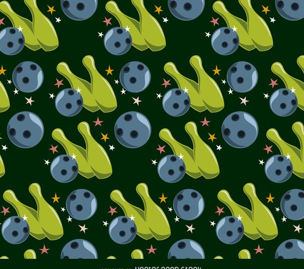 Bowling seamless pattern - vector gratuit #366315