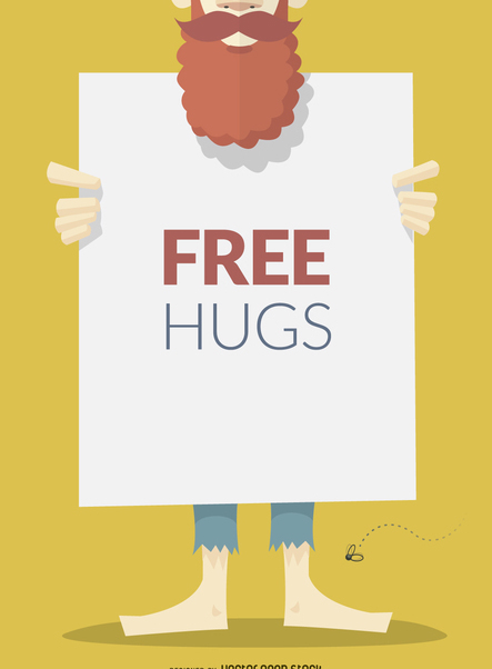 Free hugs sign or poster - Kostenloses vector #366325