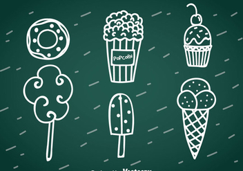 Sweet Snack Hand Drawn Vector - Free vector #366385
