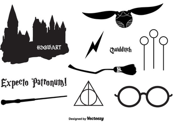 Hogwarts Vector Icons - Free vector #366435