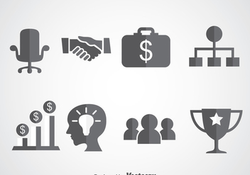 Business Startup Icons Vector - vector gratuit #366445
