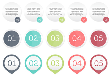 Infographic Bullet Points - Free vector #366455