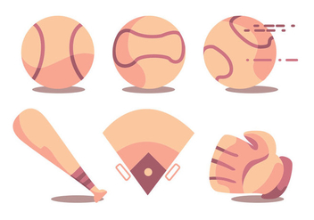 Baseball Vector Set - Kostenloses vector #366465
