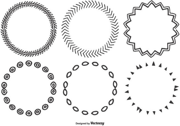 Cute Hand Drawn Frame Set - vector gratuit #366475