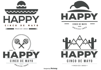 Cinco de Mayo Label Set - бесплатный vector #366505