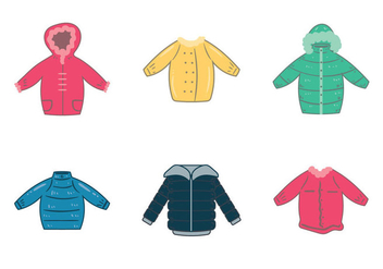 Free Winter Coat Vector Illustration - бесплатный vector #366545