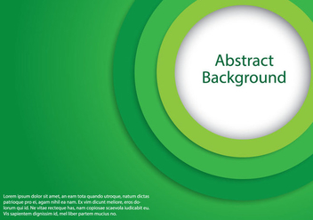 Green Circle Background - vector gratuit #366605