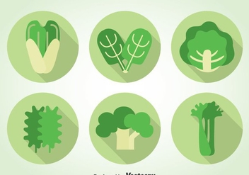 Green Vegetables Icons - vector #366685 gratis