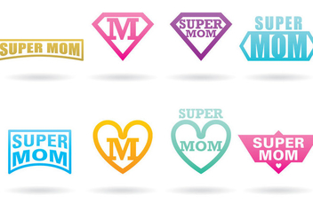 Super Mom Logos - Free vector #366805