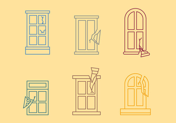 Free Broken Windows Vector 01 - vector #366845 gratis