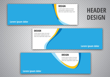 Free Header Designs Vector - vector #366895 gratis