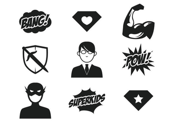 Superhero Kids Icon - Free vector #366925