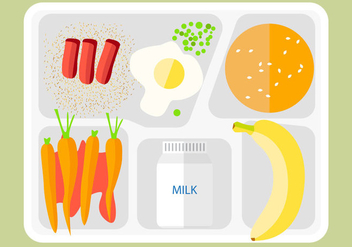 Free Food Tray Icon Vector - Kostenloses vector #366955