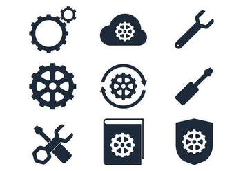Black Sprocket Icon - vector gratuit #366965