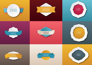 Free Papper Ribbon Vector - бесплатный vector #367015