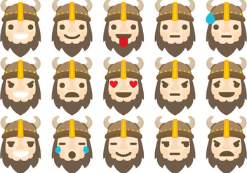 Barbarian Emoticons - vector gratuit #367085