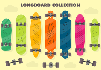 Free Longboard Vector Background - Free vector #367095