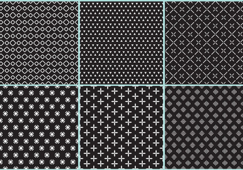 Black And White Pattern Vectors - vector gratuit #367125