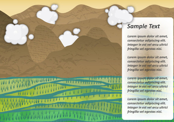 Rice Field Vector Landscape - Kostenloses vector #367155