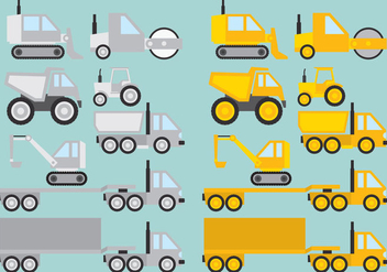 Construction Vehicles - Kostenloses vector #367205