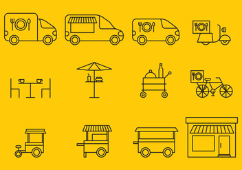 Delivery Food And Shops - vector gratuit #367305