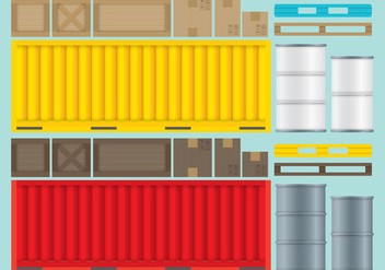 Crates Boxes And Containers.ai - Free vector #367315