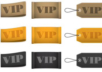VIP Label Vectors - Free vector #367335